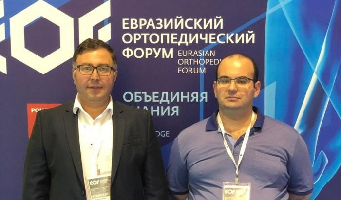 Заведующий травмотологическим отделением Жуковской городской клинической больницы Лаша Данелия и хирург-травматолог Артур Аваякян приняли участие в Евразийской ортопедическом форуме, который проходит с 28 по 29 июня в Москве.