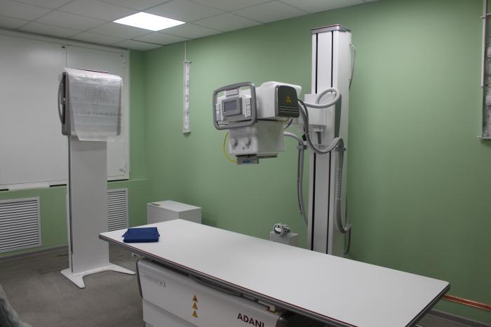 Завершён монтаж и ввод в эксплуатацию «тяжелого» оборудования: пяти рентгеновских аппаратов и магнитно-резонансного томографа (МРТ).