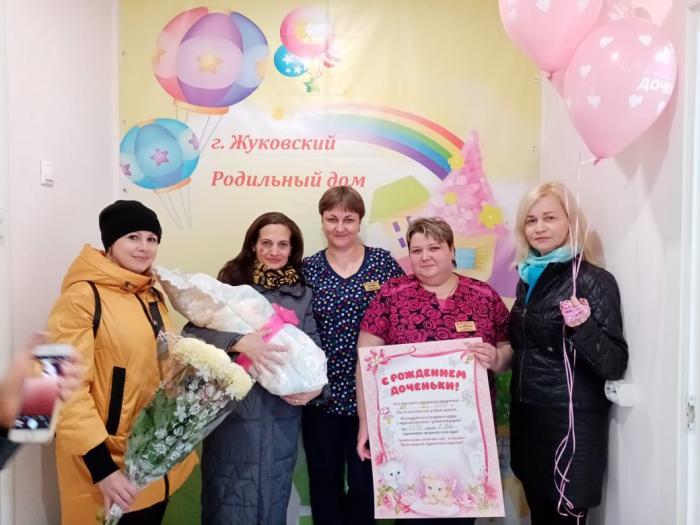 В течение недели в акушерском отделении Жуковской ГКБ наблюдался пик рождаемости: позавчера, 23 октября родилось 3 малыша, вчера, 24 октября  - 5 детей, сегодня, 25 октября - уже 2 младенца.