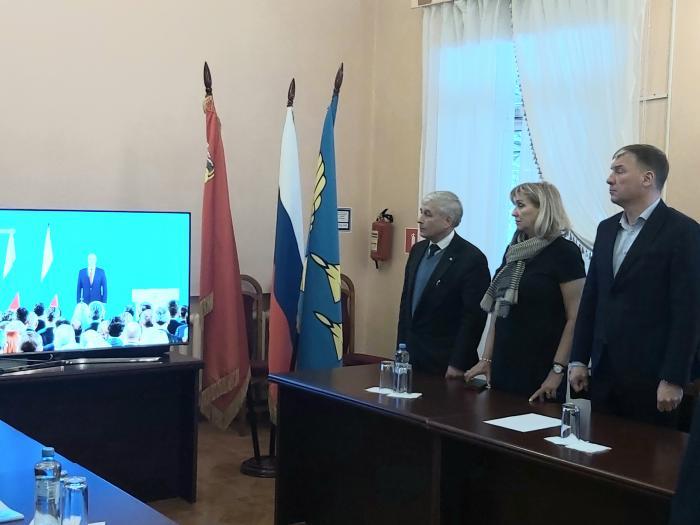 Сегодня Президент России Владимир Путин выступил с посланием Федеральному собранию. Послание президента внимательно слушали во всех отделения Жуковской городской клинической больницы, как медицинский персонал: врачи, медсестры, так и пациенты.