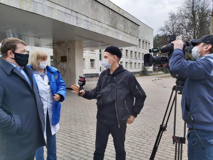 Репортаж телеканала 360 о том как продвигается перепрофилирование одного из корпусов Жуковской ГКБ