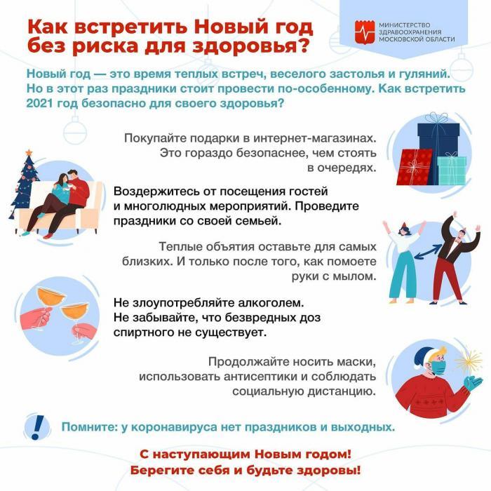 Как встретить новый год без риска заболеть? #минздравМО #ЖуковскаяГКБ #новыйгод