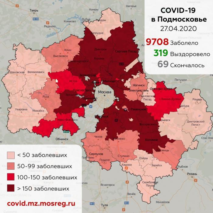 По данным оперштаба Московской области 26 апреля 2020 года в Жуковский зафиксировано 9 случаев коронавирус. Всего COVID19 переболело или болеет 76 жуковчан.