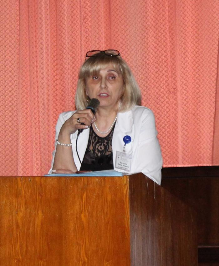 Главный врач Жуковской ГКБ Лилия Бусыгина выступила сегодня с ежегодным отчётным докладом о деятельности больницы в прошедшем 2018-м году.