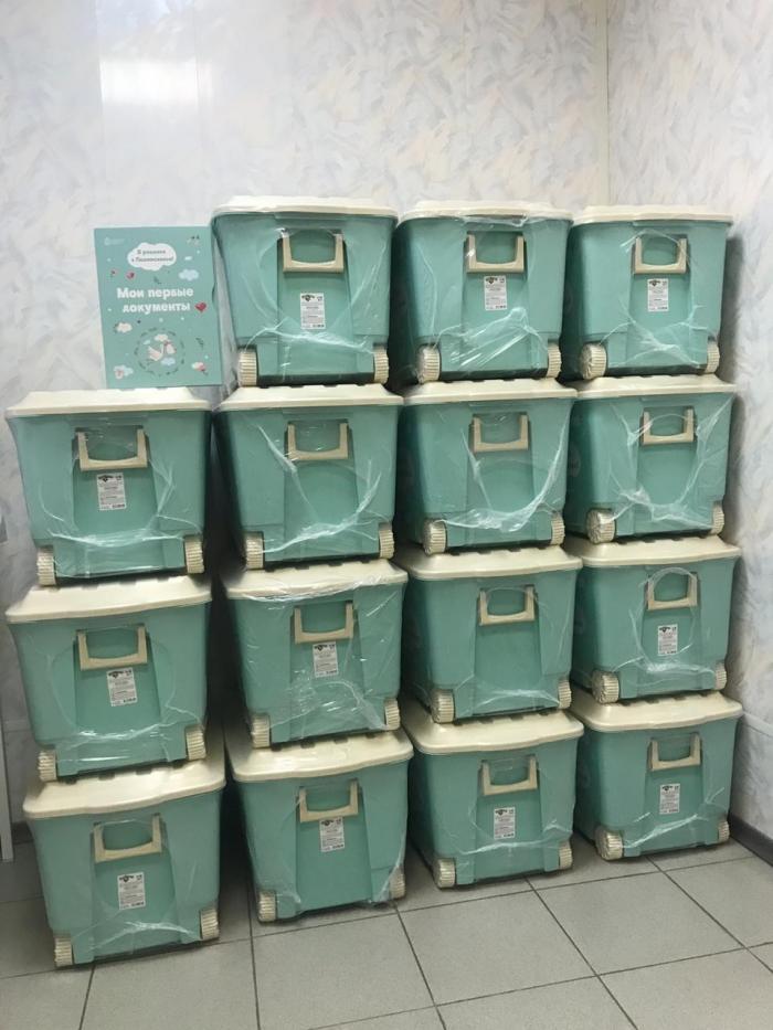 В акушерском отделении Жуковской ГКБ с 1 сентября 2019 было вручено уже 12 коробок «Я родился в Подмосковье!»