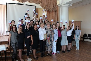 Вручение волонтерских книжек членам волонтерского отряда «Милосердие» состоялось сегодня в жуковской школе №8
