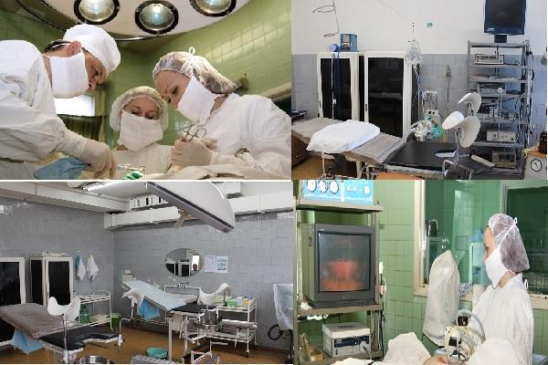 В гинекологическом отделении впервые в России в 1993 году была проведена эндоскопическая операция по коррекции недержания мочи