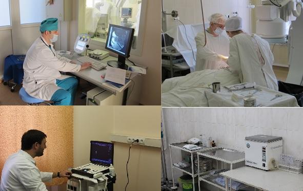 В отделении выполняются реконструктивные и шунтирующие оперативные вмешательства