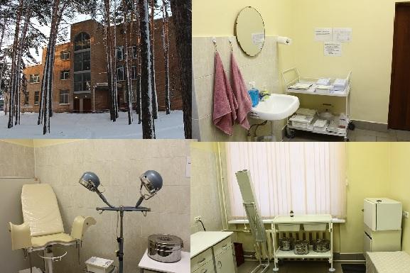 Подразделение расположено в здании поликлиники (вход с торца). Здесь оказывается специализированная помощь населению, в частности: