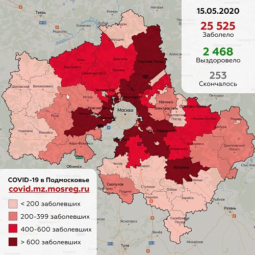 По данным оперативного штаба сегодня, 1 5 мая, в Жуковском зафиксировано 299 случаев заболевания коронавирусной инфекции (+ 24 по сравнению с 14 мая).